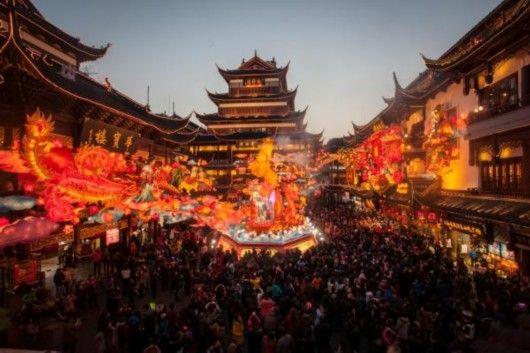 2015上海旅游节购物节豫园灯会